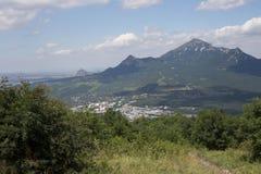 La vista dalla cima della montagna Fotografia Stock
