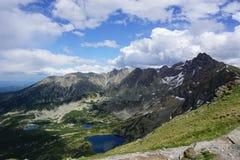 La vista dalla cima di Beskid nel Tatras Fotografia Stock