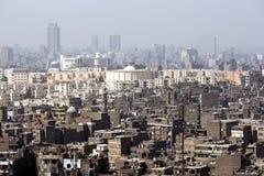 La vista dalla cittadella di Il Cairo (cittadella di Salah Al-Din) a Il Cairo, Egitto fotografie stock libere da diritti