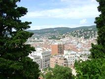 La vista dalla collina alla città di Trieste Fotografia Stock Libera da Diritti