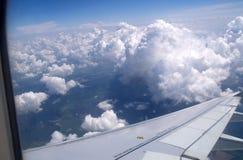 La vista dalla finestra dell'aereo di linea Fotografia Stock Libera da Diritti