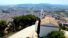La vista dalla fortezza Sant Joan immagini stock libere da diritti