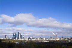 La vista dalla piattaforma di osservazione sulle colline del passero a Mosca Fotografia Stock