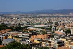 La vista de Cagliari, la capital de Cerdeña, Italia Fotos de archivo libres de regalías