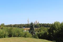 La vista de la catedral del Dormition, ciudad de Vladimir, Rusia imágenes de archivo libres de regalías
