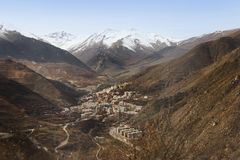 La vista de la ciudad de Kajaran, Armenia fotografía de archivo