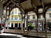 La vista de Karlovy varía Foto de archivo libre de regalías