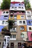 La vista de la casa de Hundertwasser Foto de archivo