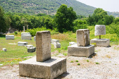 La vista de la ciudad antigua de Ephesus Fotografía de archivo