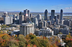 La vista de la ciudad de Montreal Fotografía de archivo libre de regalías