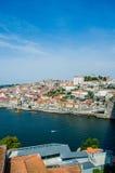 La vista de la ciudad de Oporto el día de verano Imagen de archivo