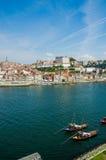 La vista de la ciudad de Oporto el día de verano Fotografía de archivo libre de regalías