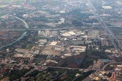 La vista de la fotografía aérea Fotografía de archivo