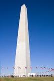A la vista de la vertical del monumento de Washington Fotografía de archivo