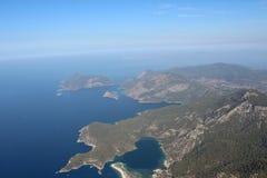 La vista de las montañas y del mar 13 Fotografía de archivo libre de regalías