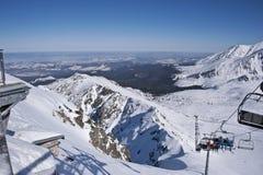 La vista de las montañas y del paisaje de Tatra del Kasprowy Wierch Imágenes de archivo libres de regalías
