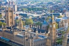 La vista de Londres a través del vidrio del ojo de Londres fotografía de archivo