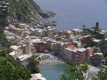 La vista de Manarola, Cinque Terre, Italia fotografía de archivo libre de regalías