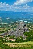 La vista de Meteora Imágenes de archivo libres de regalías