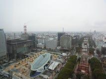 La vista de Nagoya arriba Foto de archivo
