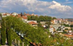 La vista de Oporto de Jardins hace a Palacio de Cristal Fotos de archivo