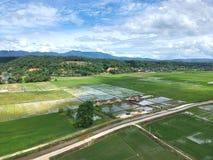La vista de pájaro de la ciudad del dao de chiang, chiangmai Tailandia Foto de archivo