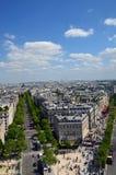 La vista de París Fotos de archivo libres de regalías