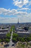 La vista de París Imagen de archivo