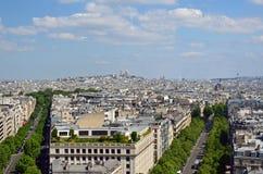 La vista de París Foto de archivo