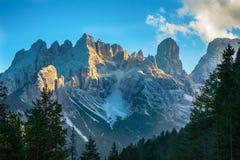 La vista de ?ristallo, montaña de Dolomiti Fotografía de archivo