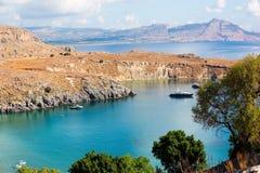 La vista de Rodas, Grecia Imagen de archivo