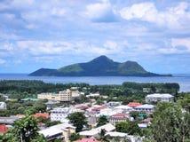 La vista de Victoria, Seychelles Imagen de archivo