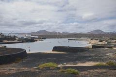 La vista del centro turístico de Papá Noel del La windsurf escuela Fotografía de archivo libre de regalías