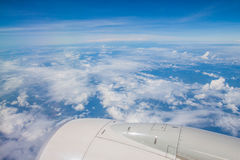 La vista del cielo dall'aereo Fotografia Stock
