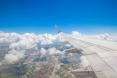 La vista del cielo dall'aereo Immagine Stock