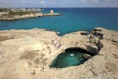 La vista del fuco del poesia scava, la Puglia, Italia Fotografie Stock
