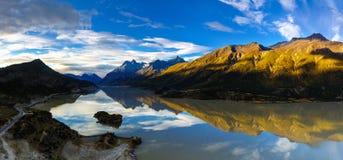 La vista del lago Ranwu fotografie stock libere da diritti
