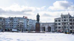 La vista del monumento a Maxim Gorky, era un ruso y escritor soviético, un fundador del método literario del realismo socialista, fotografía de archivo