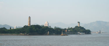 La vista del neo cinese: isola del jiangxin Fotografia Stock