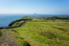 La vista del paesaggio dal picco di Udo-bong fotografie stock libere da diritti