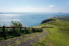 La vista del paesaggio dal picco di Udo-bong fotografia stock libera da diritti