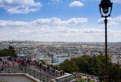 La vista del paesaggio di Parigi fotografia stock libera da diritti