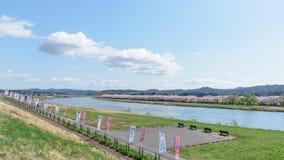 La vista del parque de Tenshochi en la prefectura de Iwate, Japón es famosa por t Imagen de archivo libre de regalías