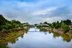 La vista del ponte bianco Immagini Stock Libere da Diritti