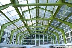 La vista del primo piano della struttura della serra Fotografie Stock Libere da Diritti