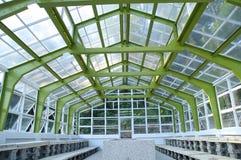 La vista del primo piano della struttura della serra Fotografia Stock