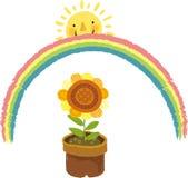 La vista del vaso da fiori illustrazione di stock