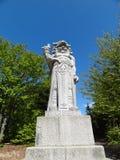 La vista delantera de la estatua de Radegast (dios pagano) en sea fotografía de archivo libre de regalías