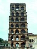 La vista delantera de la torre del palacio del maratha del thanjavur Fotos de archivo libres de regalías