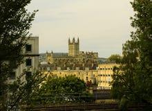 La vista dell'abbazia del bagno Immagini Stock Libere da Diritti